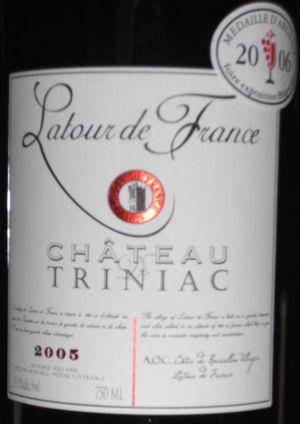 wine tracker château triniac latour de france