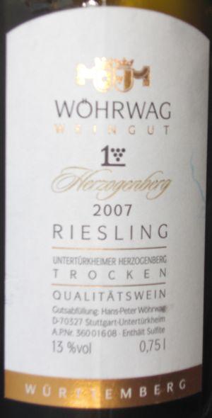 wine tracker weingut wörwag riesling trocken